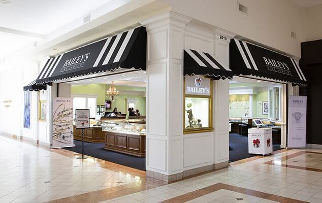 baileys fine jewelry in crabtree valley mall in Raleigh, North Carolina