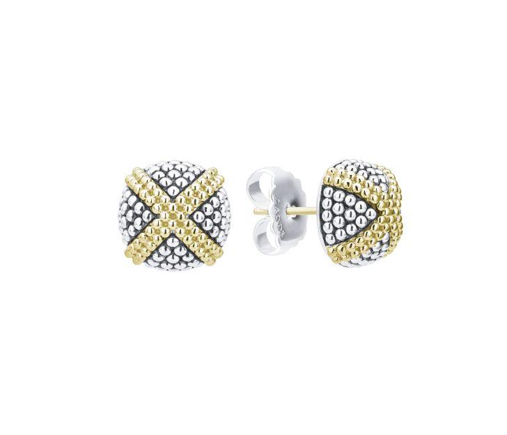 Lagos Signature Caviar Stud Earrings