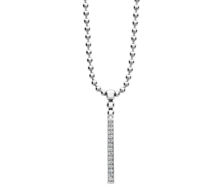 Lagos Caviar Spark Diamond Drop Necklace