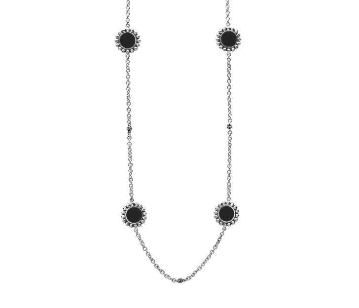 Lagos Black Onyx Maya Long Necklace