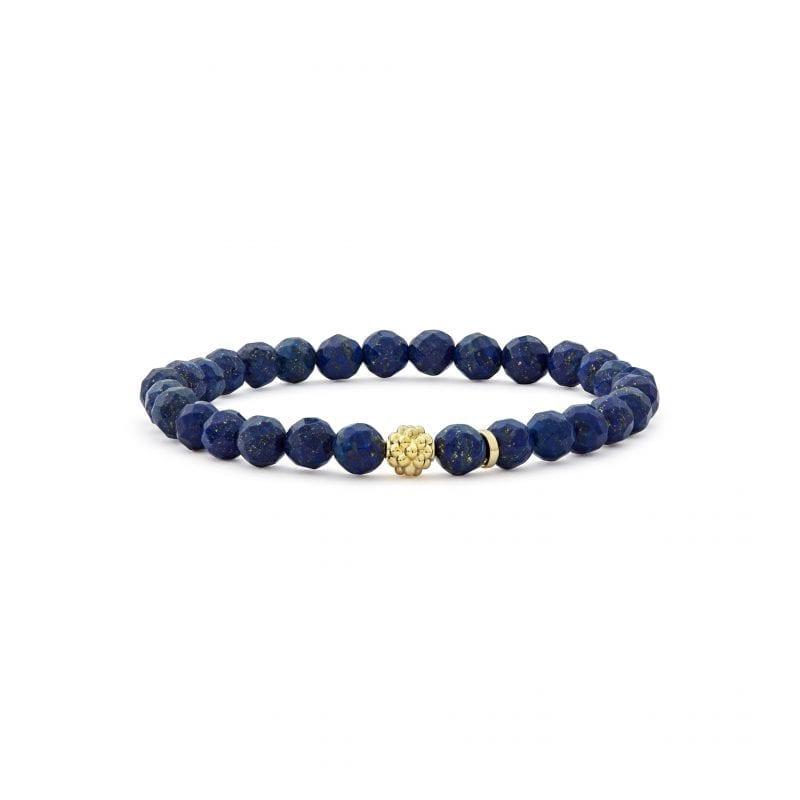 Lagos Caviar Icon Gemstone Bead Bracelet in Lapis
