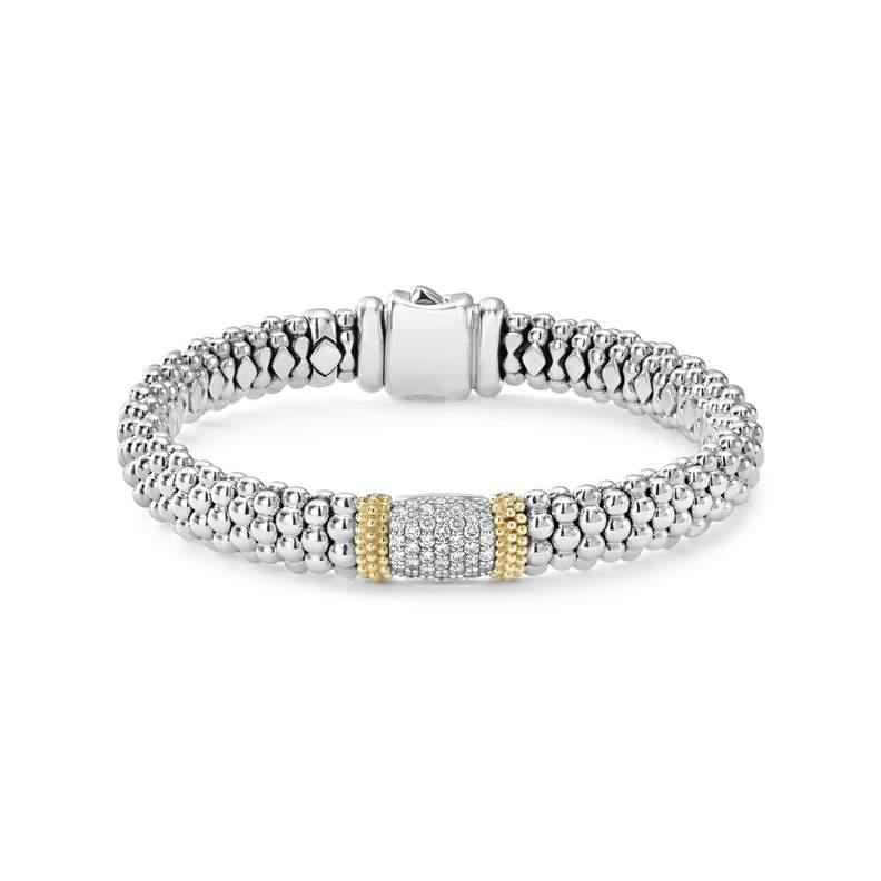 Lagos Caviar Lux 9mm Diamond Bracelet