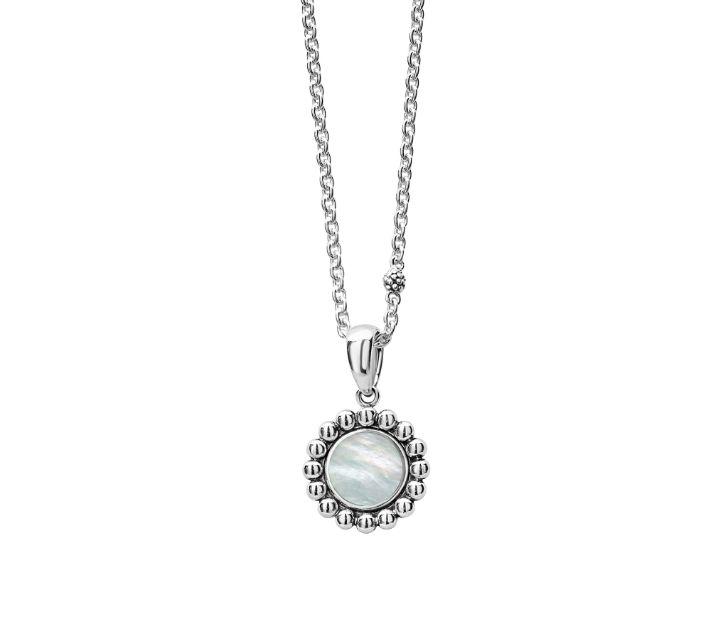 Lagos Mother-of-Pearl Maya Circle Pendant Necklace