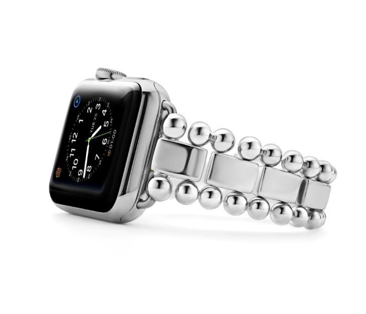 Lagos Smart Caviar Sterling Silver Watch Bracelet, 38mm