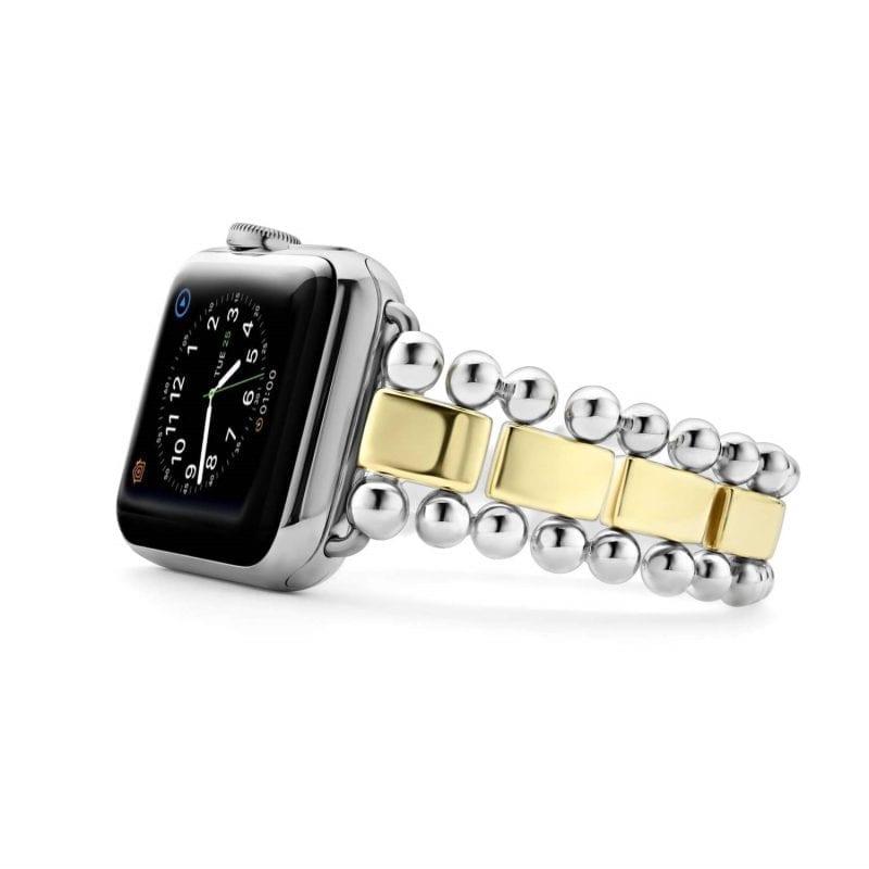 Lagos Smart Caviar Sterling Silver 18k Gold Apple Watch Bracelet