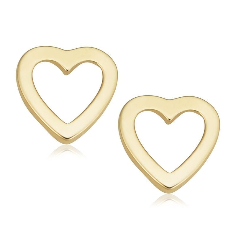 Bailey's Icon Collection Open Heart Stud Earrings in 14k Yellow Gold