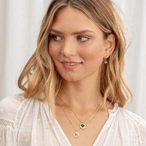 Gorjana Power Gemstone Coin Necklace