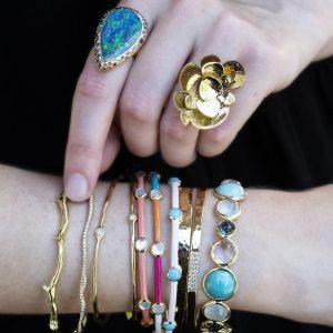 Ippolita Gold Glamazon Reef Bangle Bracelet