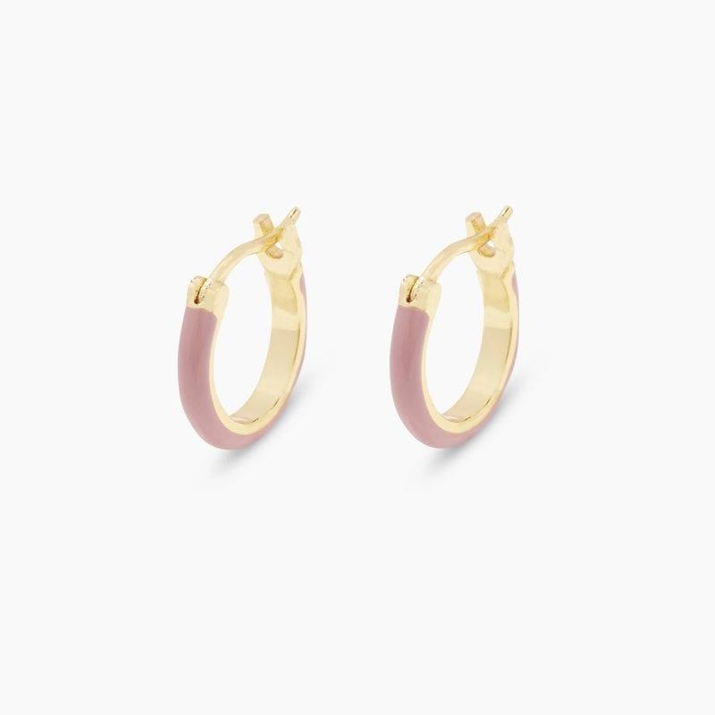 Gorjana Amalfi Huggie Hoop Earrings in Blush