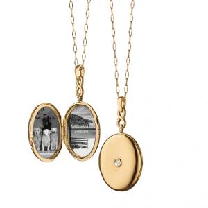 Monica Rich Kosann Infinity Diamond Locket Necklace