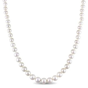 graduated akoya pearl necklace