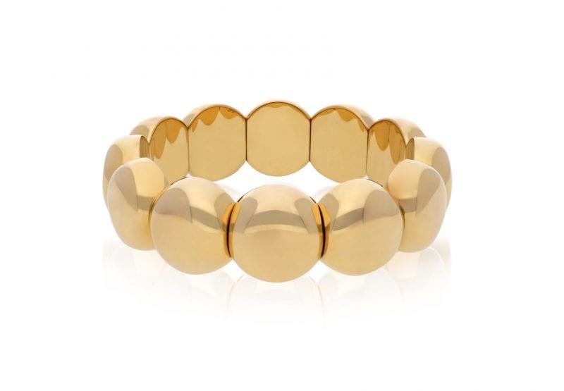 Roberto Demeglio 18kt Yellow Gold Plate Large Aura Dama Bracelet, Size Medium