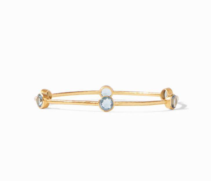 Julie Vos 24kt Gold Plate Milano Bangle Bracelet