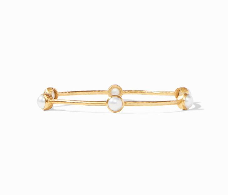 Julie Vos 24kt Yellow Gold Plate Milano Luxe Bangle Bracelet