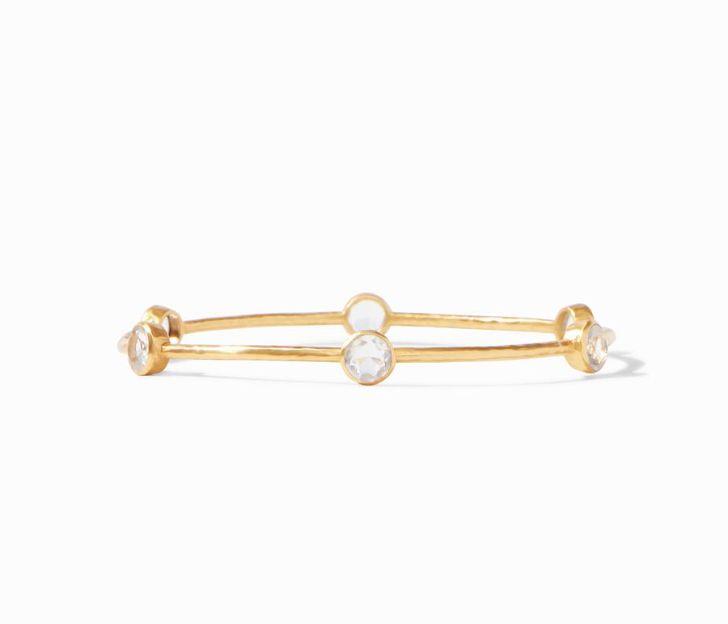 Julie Vos 24kt Yellow Gold Plate Milano Bangle Bracelet