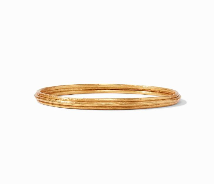 Julie Vos 24kt Yellow Gold Plate Barcelona Bangle, Size Small