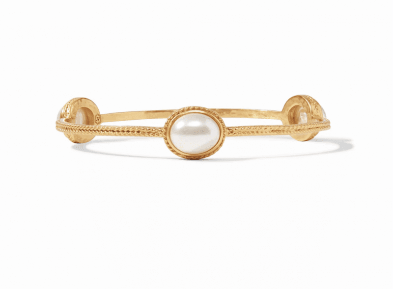 Julie Vos 24kt Yellow Gold Plate Pearl Calypso Bracelet