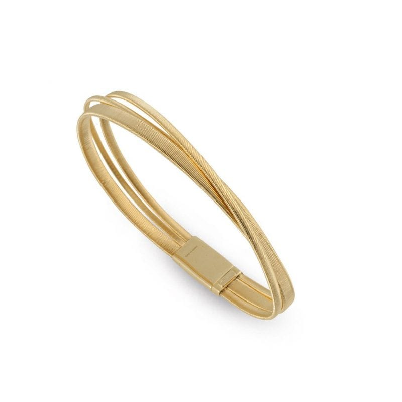 Marco Bicego Masai Three-Row Crossover Bracelet in 18kt Yellow Gold