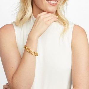 Julie Vos 24kt Yellow Gold Plate Catalina Small Link Bracelet