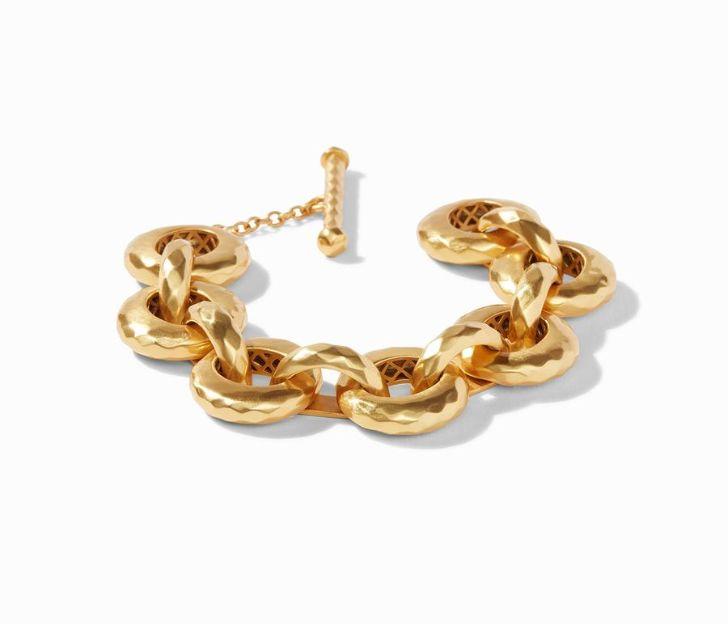 Julie Vos 24kt Yellow Gold Plate Savannah Demi Link Bracelet