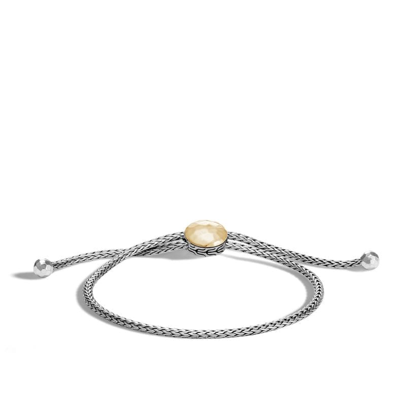 John Hardy Classic Chain Hammered Pull Through Bracelet