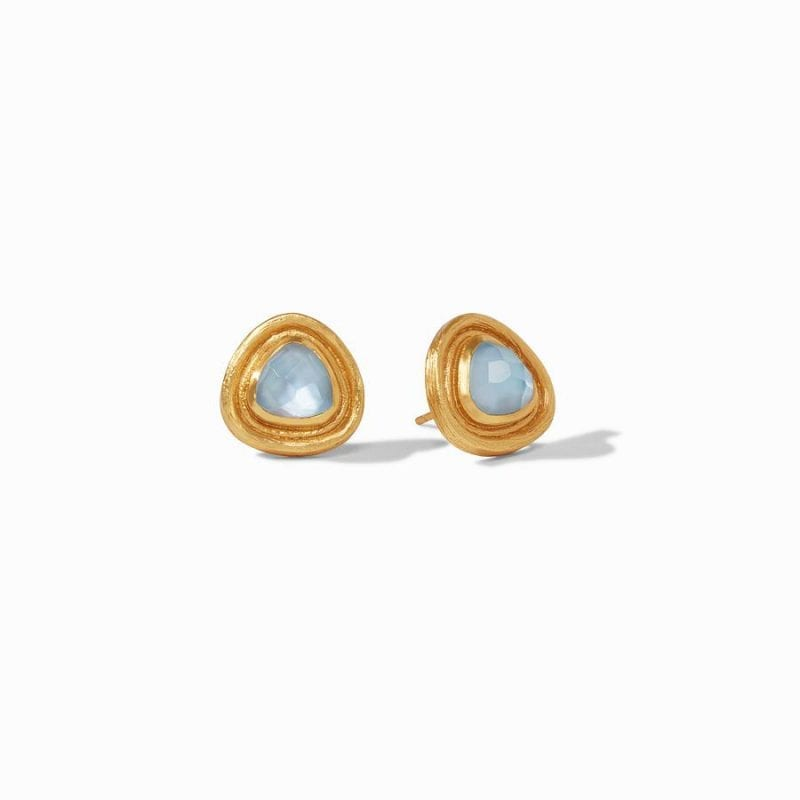 Julie Vos 24kt Yellow Gold Plate Barcelona Stud Earrings