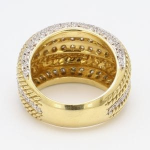 Diamond Dome Ring in 14k Yellow Gold