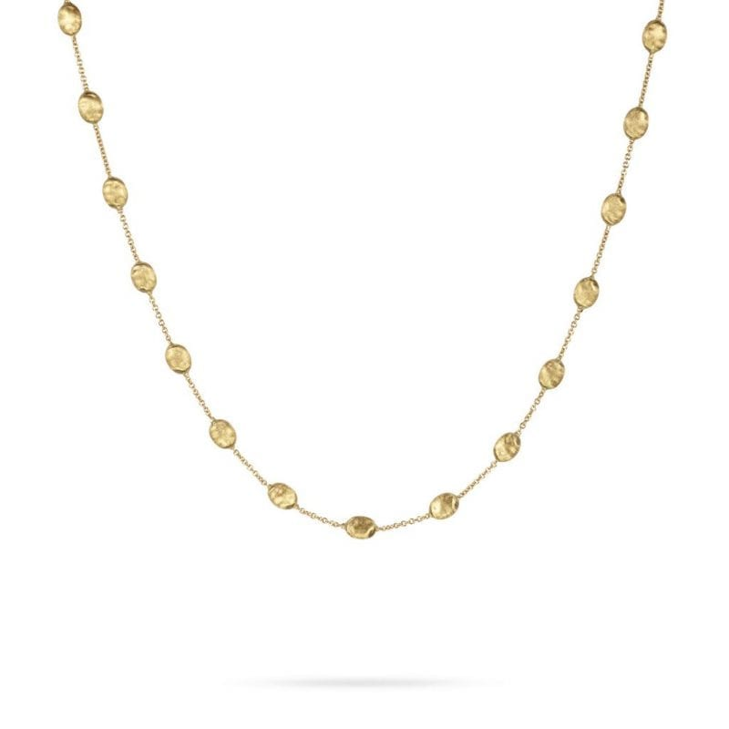 Marco Bicego Siviglia Medium Bead Necklace in 18kt Yellow Gold
