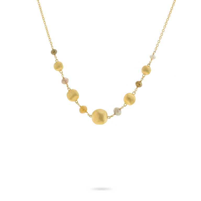 Marco Bicego Africa Collection 18kt Yellow Gold and Raw Diamond Necklace