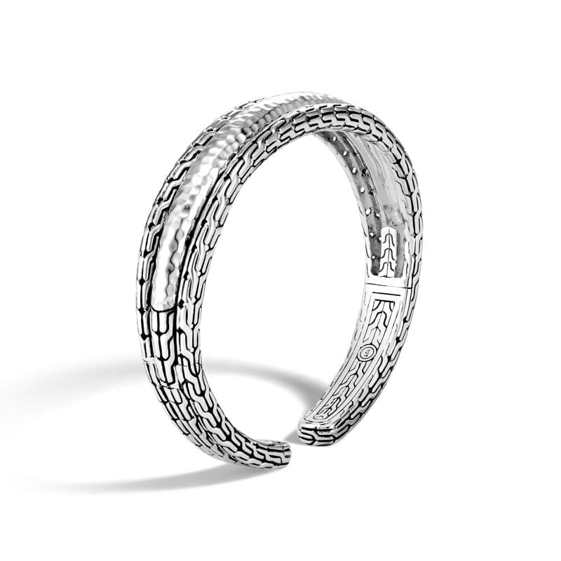 John Hardy Sterling Silver Classic Chain Flex Hammered Cuff
