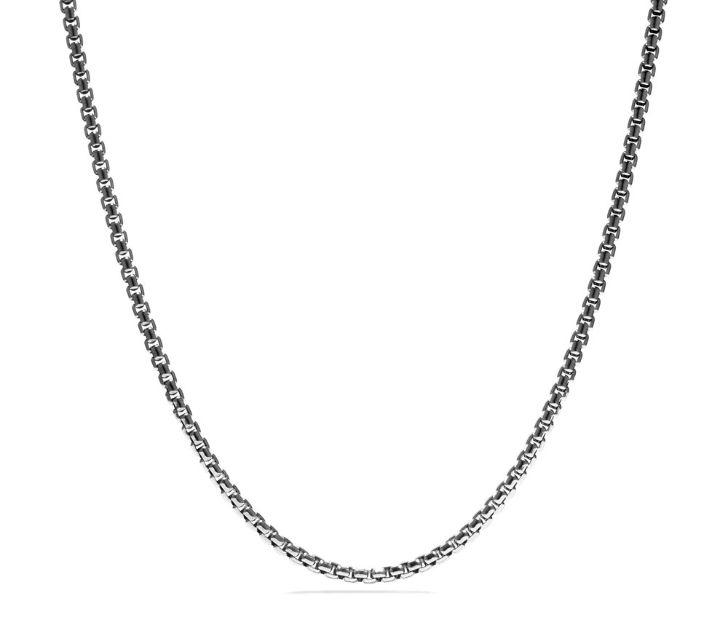 David Yurman Box Chain Necklace, 26 IN