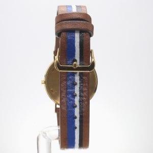 Patek 18k Yellow Gold Calatrava with Custom Blue Roman Dial