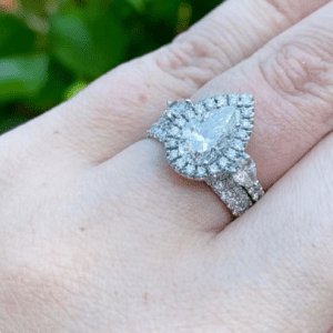 two diamond rings on hand
