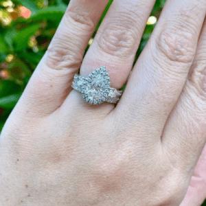 two diamond rings on ring finger