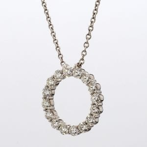 Forevermark Circle Of Life Pendant Necklace in 18k White Gold