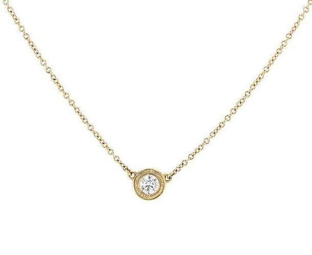 Bezel Set Diamond Pendant Necklace