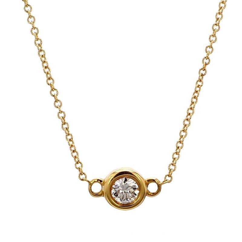 Forevermark Bezel Solitaire Pendant Necklace