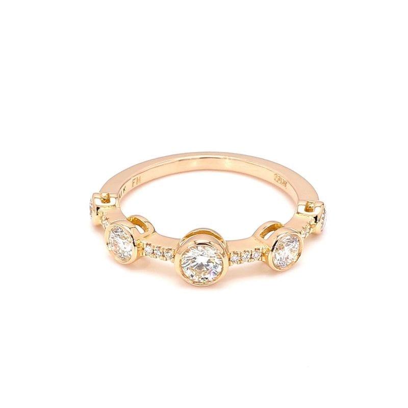 Forevermark Bezel Set Diamond Ring in 18k Rose Gold