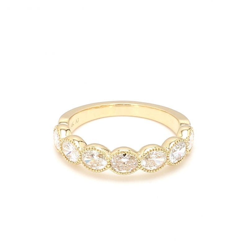 Bezel Set Diamond Ring in 14k Yellow Gold