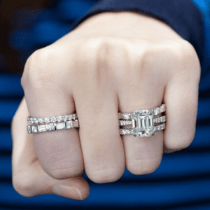 diamond rings on model