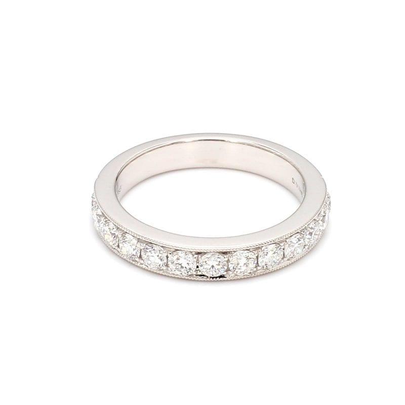 .75ct Micro Pave Diamond Band Ring