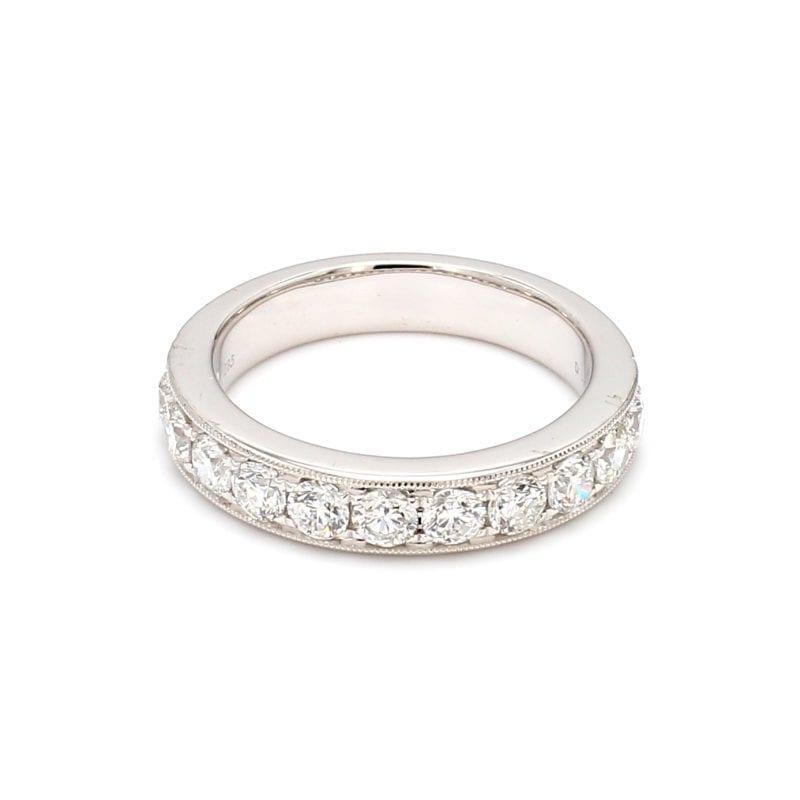 1.0ct Micro Pave Diamond Band Ring