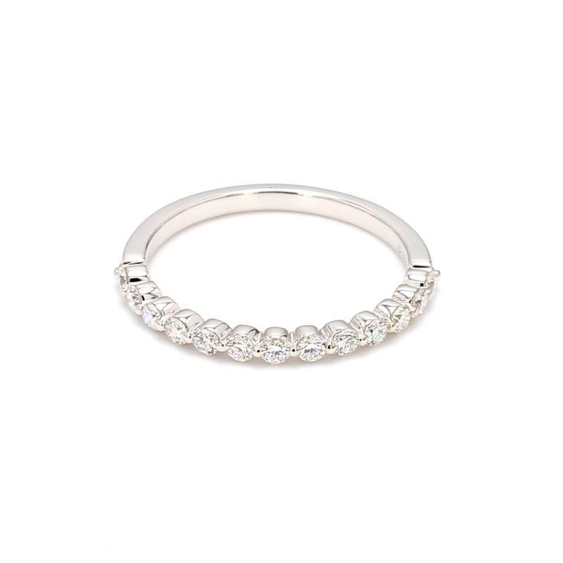.35ct Single Prong Diamond Band Ring