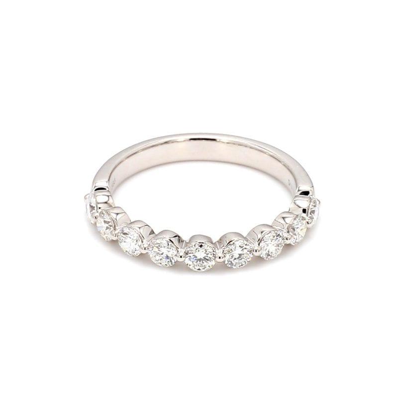 .75TW Single Prong Diamond Band Ring