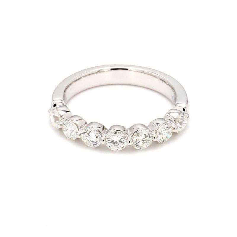 1.0ct Single Prong Diamond Band Ring