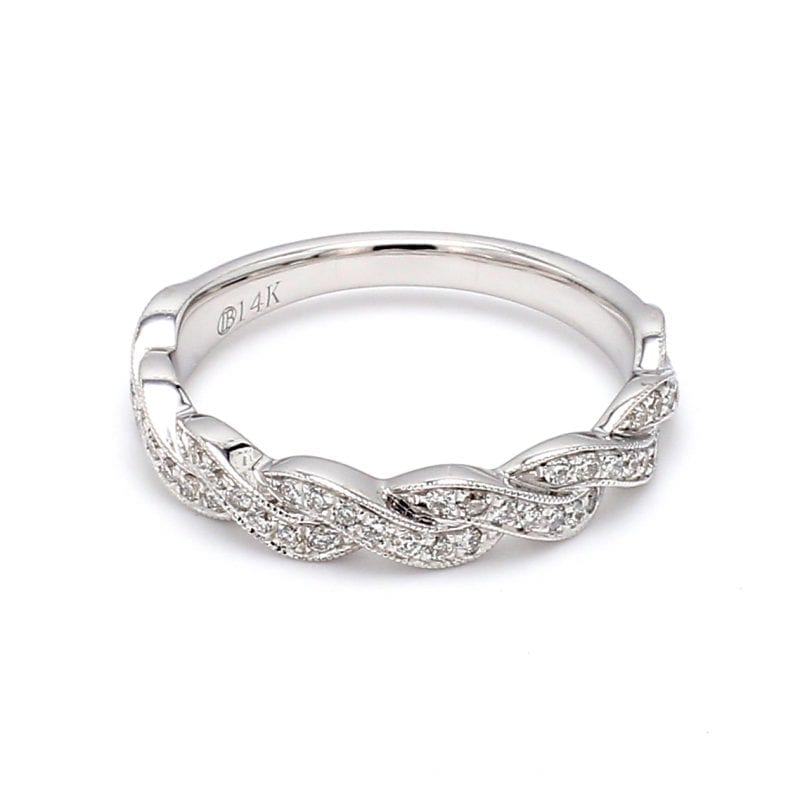 .33CT Diamond Twist Band Ring