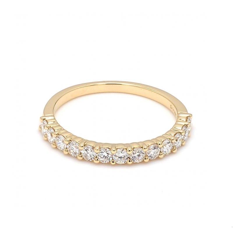Shared Prong Diamond Ring