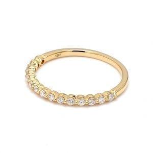.25ct Single Prong Diamond Band Ring