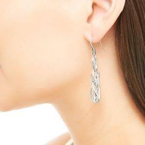 John Hardy Sterling Silver Linear Drop Earrings