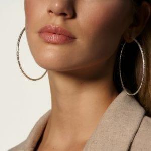 John Hardy Classic Chain Silver Extra-Large Hoop Earrings